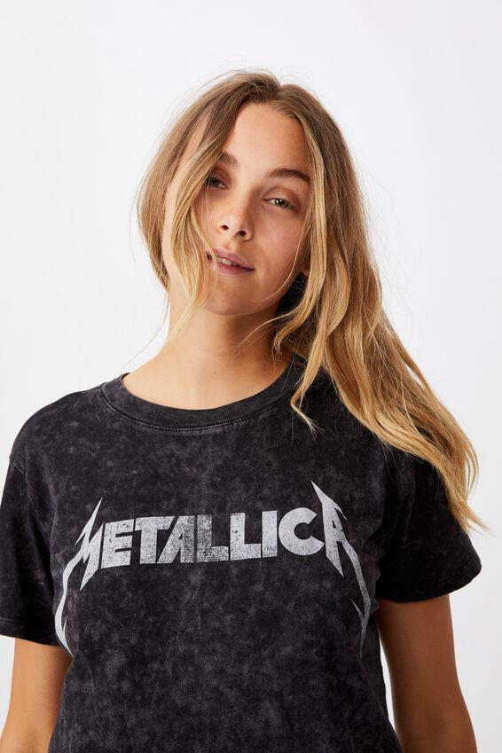 Classic Metallica T Shirt, LCN PRO METALLICA TOUR/BLACK