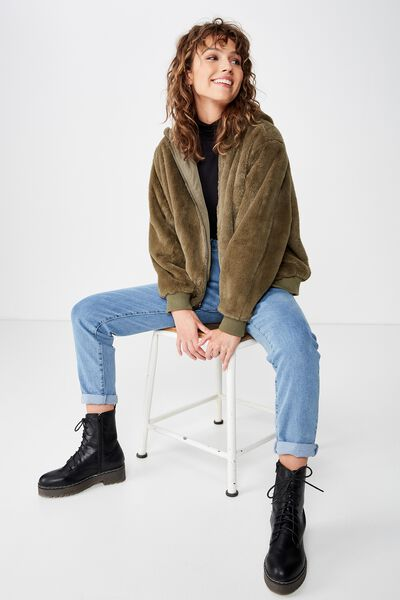 Ray Ray Reversible Bomber, BURNT OLIVE