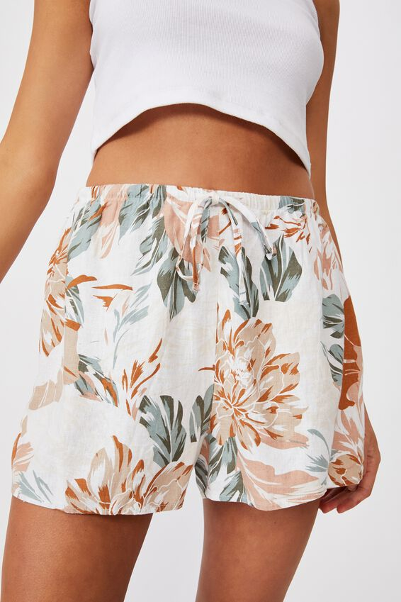 Cali Pull On Short, CAMILLE TROPICAL NEUTRAL