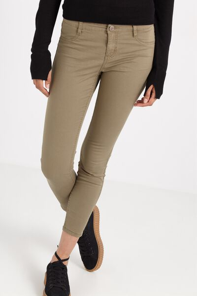 Mid Rise Jegging, SATEEN DUSKY GREEN