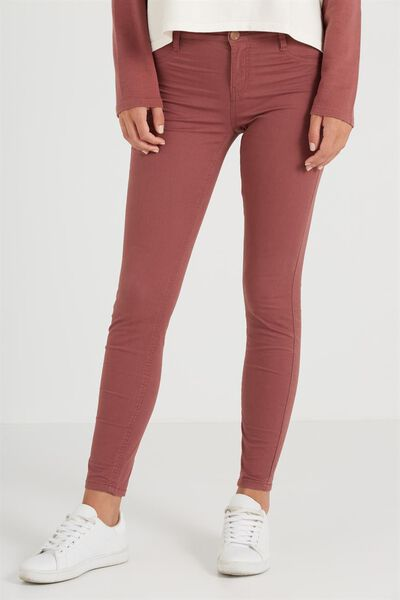 Mid Rise Jegging, SATEEN DEEP CURRANT