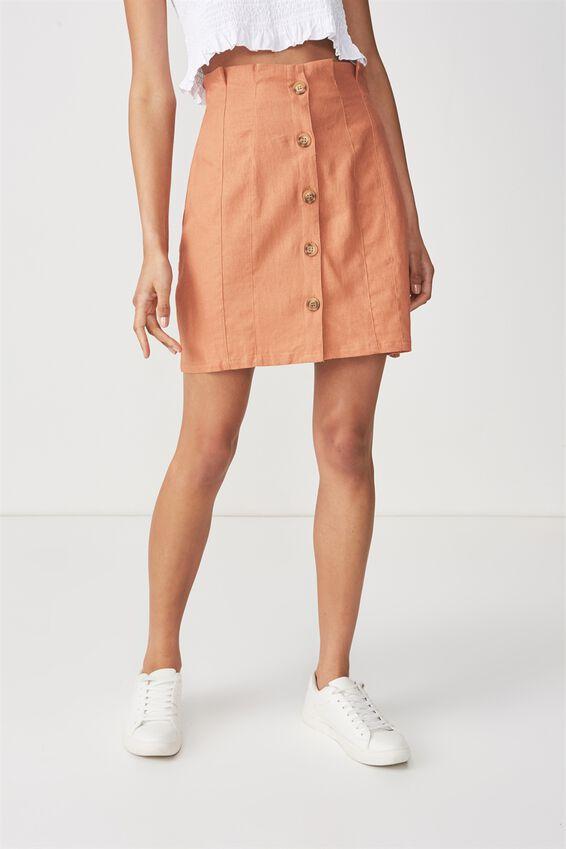 Woven Halle Mini Skirt, SAHARA