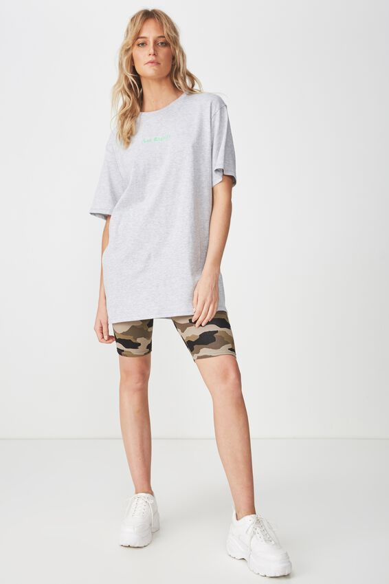The Graphic Boyfriend Tee, LOS ANGELES/LIGHT GREY MARLE
