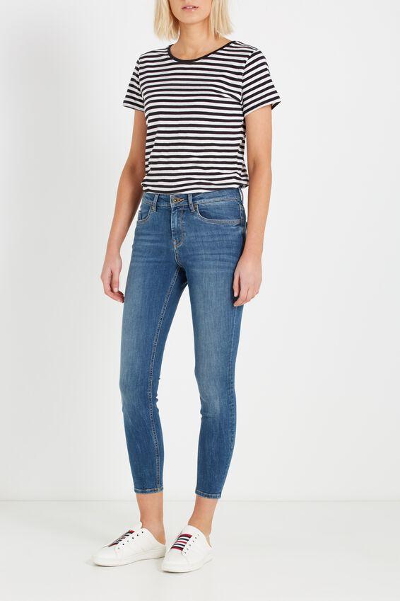 Mid Rise Shape Embracer Skinny Jean, MID WASH