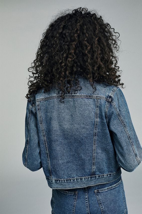 Girlfriend Denim Jacket, BERKLEY