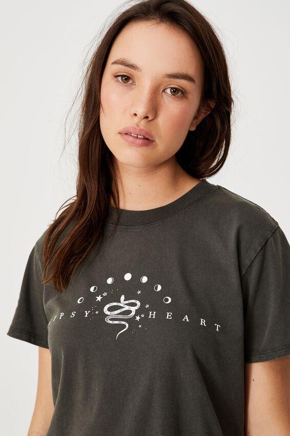 Classic Arts T Shirt, GYPSY HEART/SLATE GREY