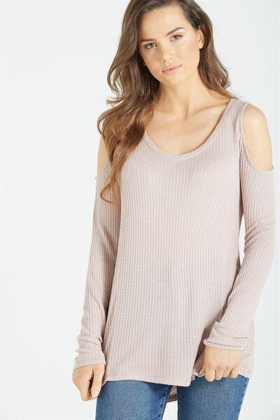 Wynne Long Sleeve Top, MAUVELOUS