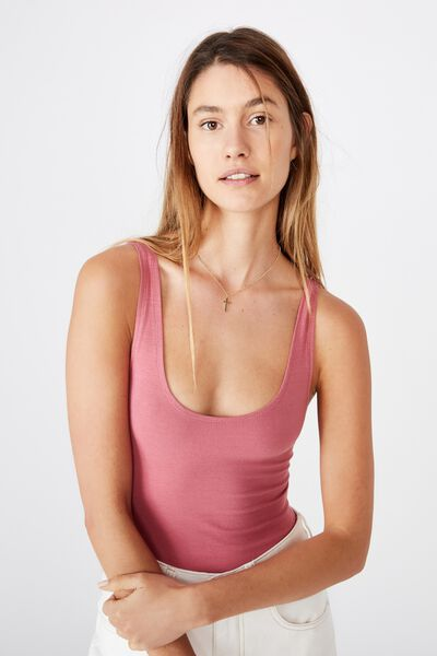The Everyday Scoop Bodysuit, ROSE WINE