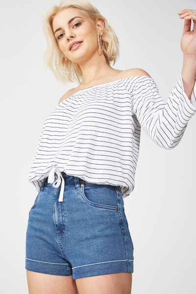 Payton Off The Shoulder Top, WHITE