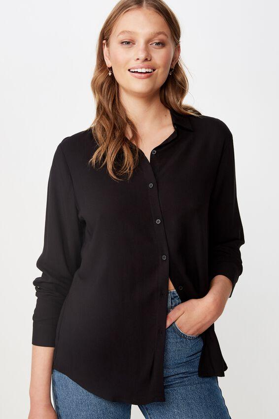 Rachel Everyday Shirt, BLACK