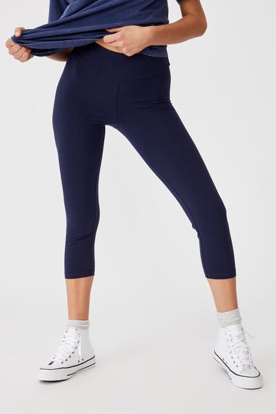 3/4 High Waisted Dylan Legging, NAVY BLUE
