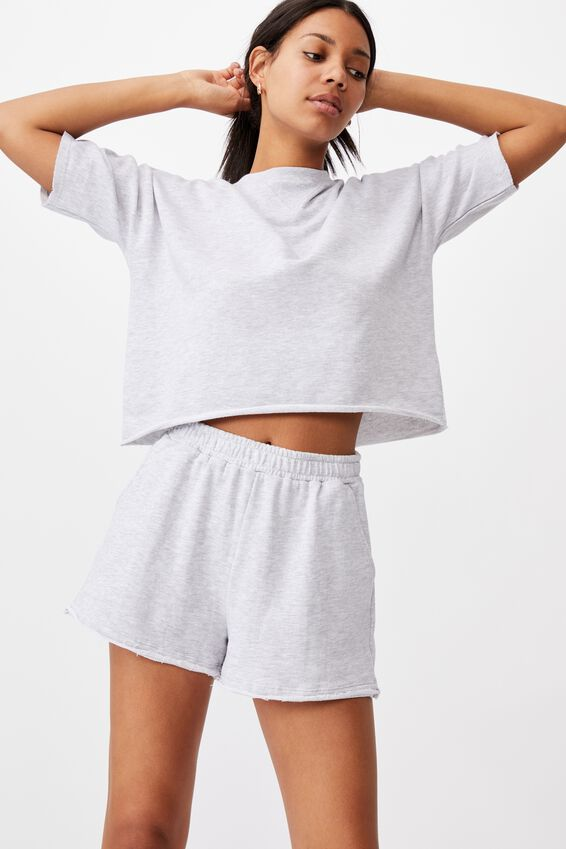90S Sweat Short, SILVER MARLE