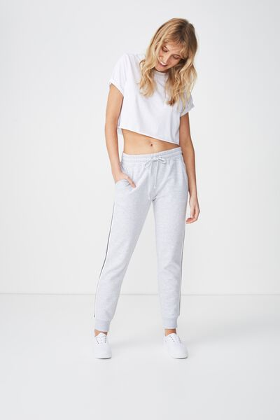 Adele Trackpant, SILVER MARLE/SILVER LUREX TAPE