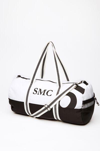 Co Barrel Bag, BLACK/WHITE