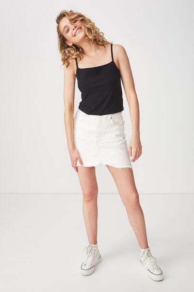 Fashion Crop Cami, BLACK 2