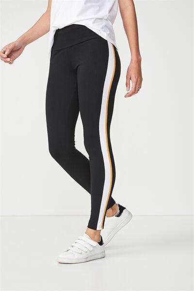 Dakota Detail Legging, BLACK/SPRUCE YELLOW/WHITE SPLICE