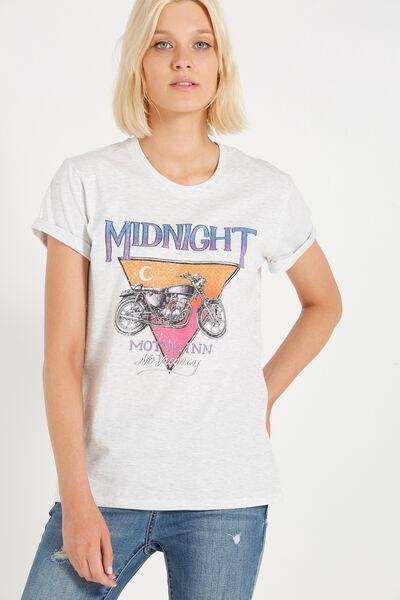 Tbar Fox Graphic T Shirt, MOTOR INN/SILVER MARLE