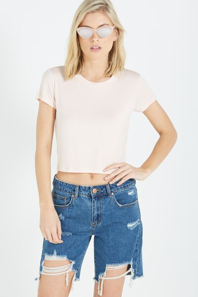 The Baby Tee, MISTY PINK