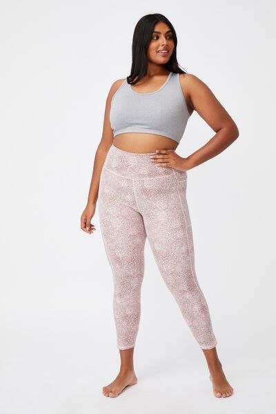 Curve Lifestyle Pocket 7/8 Tight, MICRO TEXTURE DUSTY ROSE