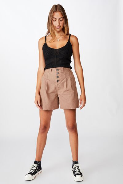Pleated Utility Short, ACORN