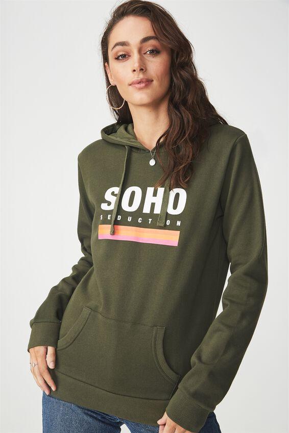 Delevingne Graphic Hoodie, SOHO SEDUCTION/DEEP DEPTHS