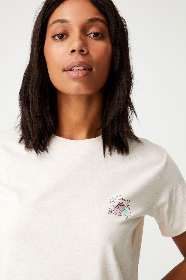 Classic Pop Culture T Shirt, LCN PUSH PUSHEEN MERMAID/GARDENIA MARLE