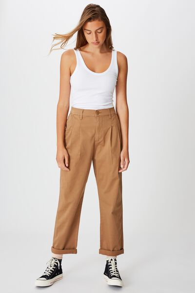 Hunter Pleated Pant, TOBACCO R