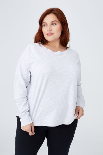 Curve Active Long Sleeve Top, GREY MARLE