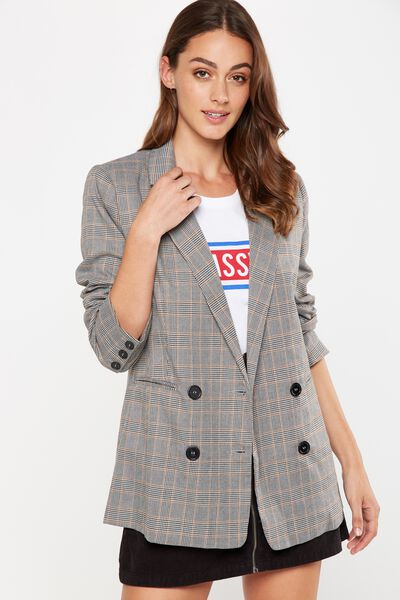 Boyfriend Blazer, NEUTRAL PRINCE OF WALES CHECK