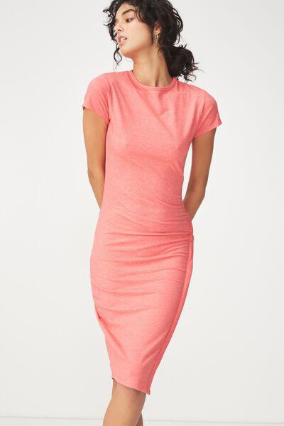 Anthea Short Sleeve Midi Dress, ROSE PETAL MARLE