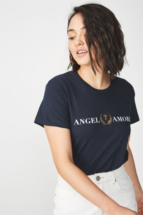 Tbar Fox Graphic T Shirt, ANGEL AMORE/MOONLIGHT