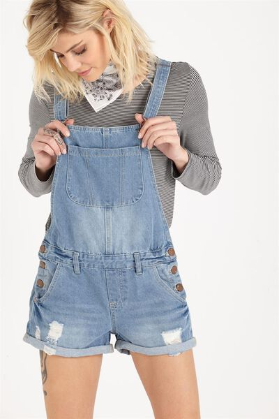 The Classic Overall, MID BLUE DENIM
