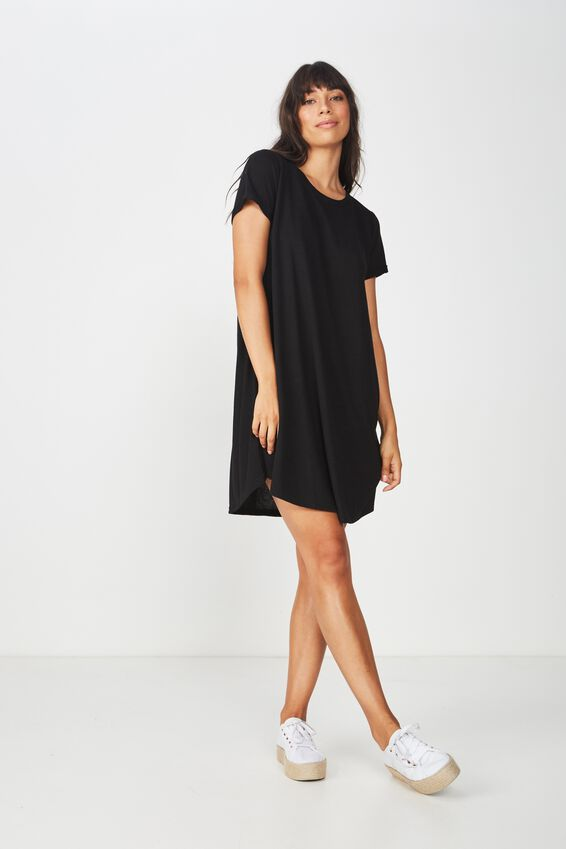 Tina Tshirt Dress 2, BLACK 2