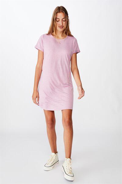 Tina Tshirt Dress 2, ORCHID HAZZ MARLE