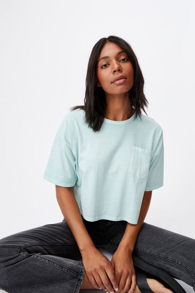 The Slouch Pocket Tee, WASHED HORIZON BLUE