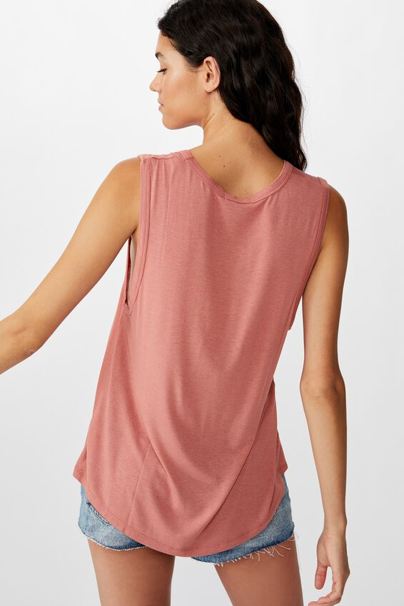 The Parker Scoop Tank, CANYON ROSE