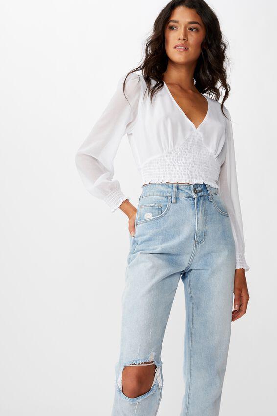 Stargaze Fashion Blouse, WHITE