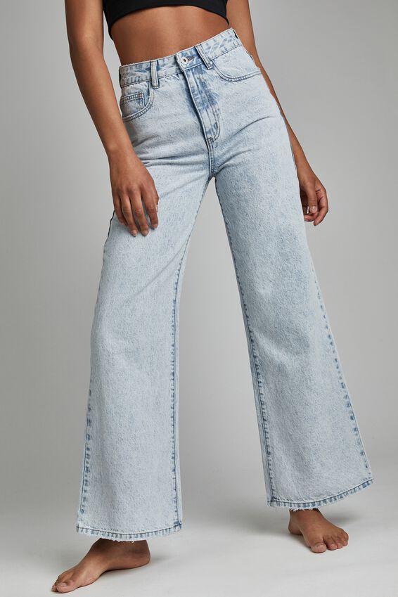 Long Wide Leg Jean, APOLLO BLUE