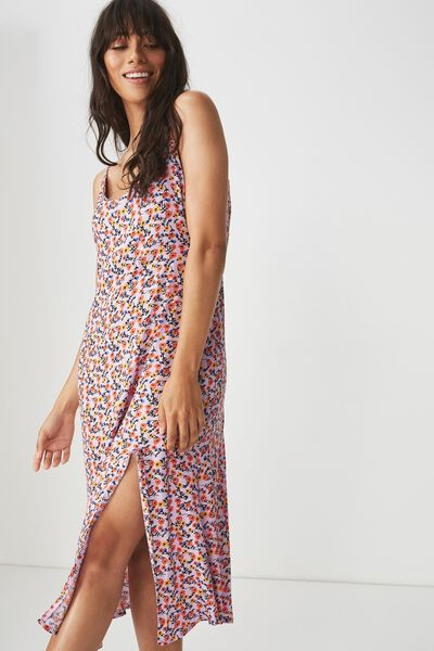 Woven Bloom Maxi Slip Dress, ERIN DITSY FLORAL