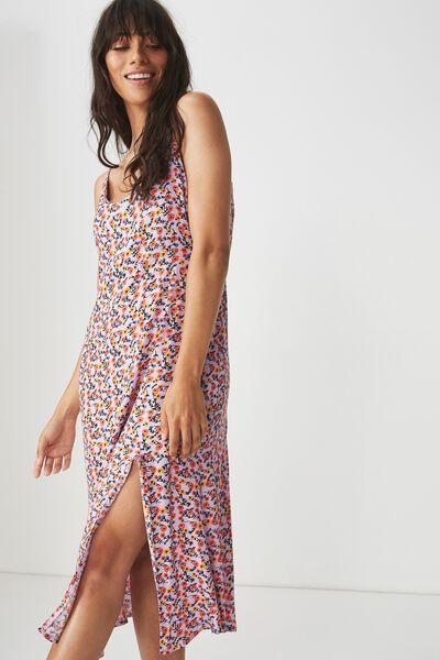 3fba9dac4582 Woven Bloom Maxi Slip Dress