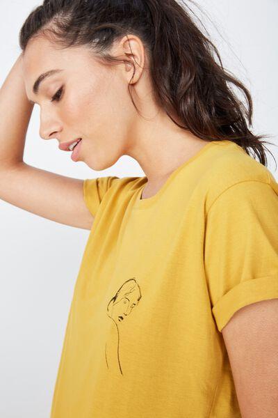 Classic Arts T Shirt, LADY STATUE/TAWNY OLIVE