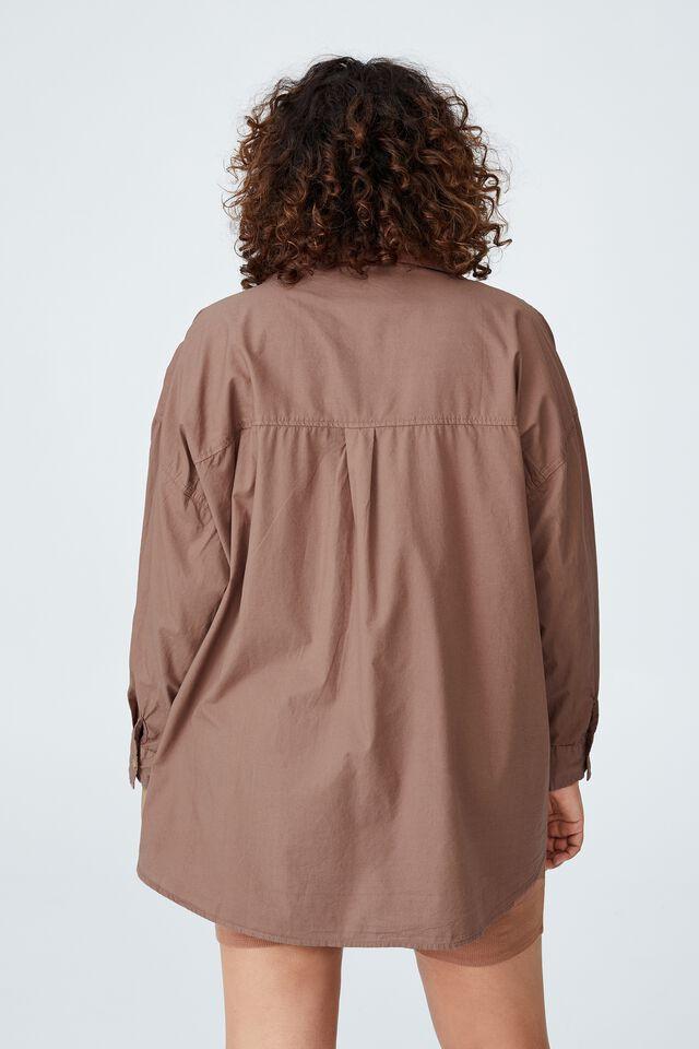 Curve Dad Shirt, COCOA BEAN