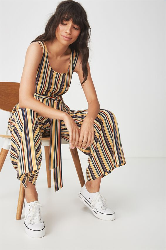 Woven Tara Sleeveless Jumpsuit at Cotton On in Brisbane, QLD | Tuggl