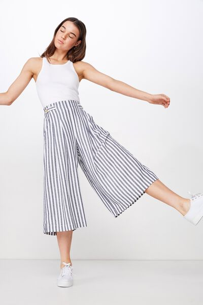Lola Button Culotte, ELLIE STRIPE TOTAL ECLIPSE