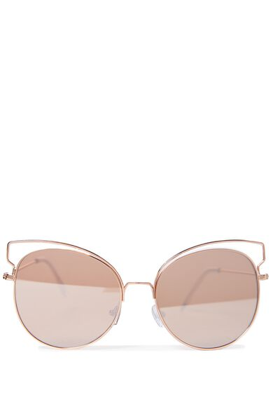 Alicia Butterfly Sunglasses, ROSE GOLD/ROSE GOLD