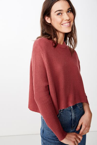 Archy Cropped 2 Pullover, MAUVEWOOD