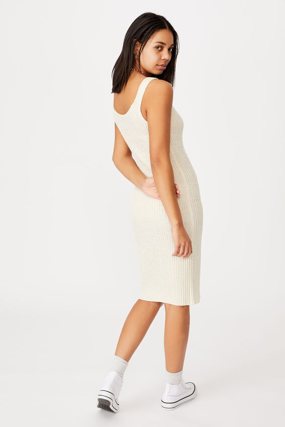 Match Me Midi Dress, SEASHELL WHITE