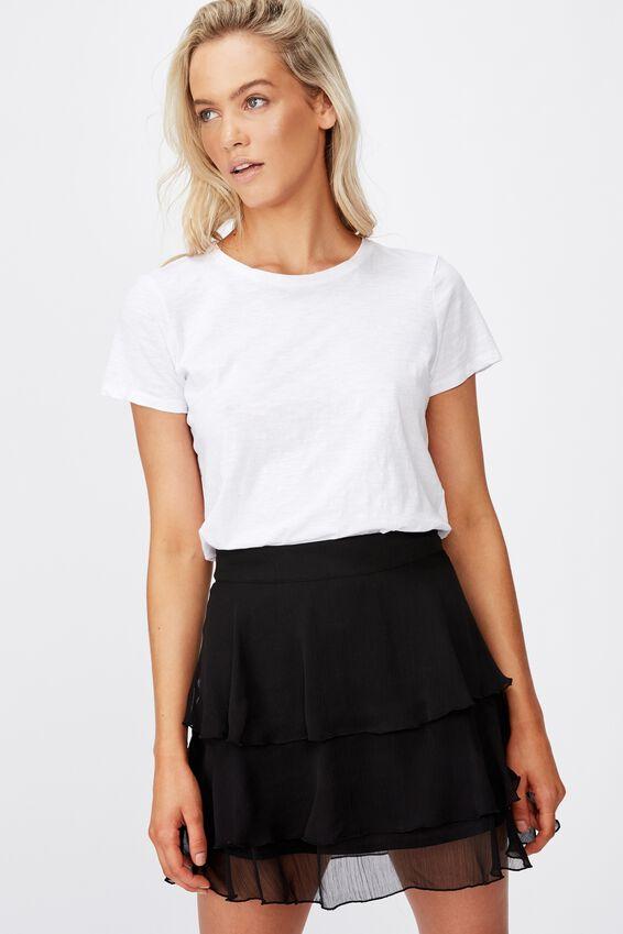 Piper Mini Skirt, BLACK