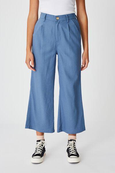 Cindy Wide Leg Pant, CORONET BLUE