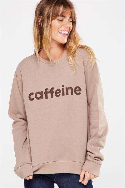 Ferguson Graphic Crew Sweater, CAFFEINE/SHIITAKE